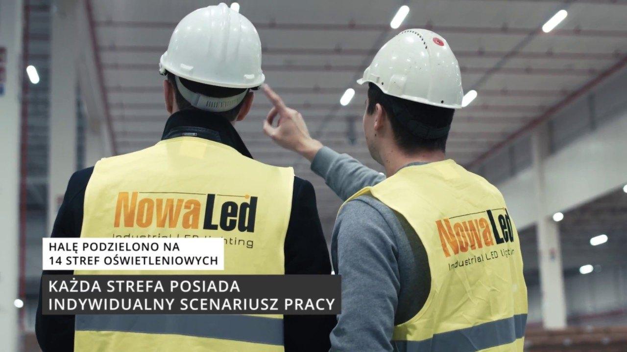 Film z oświetlenia zakładu produkcyjnego firmy Husqvarna w Mielcu