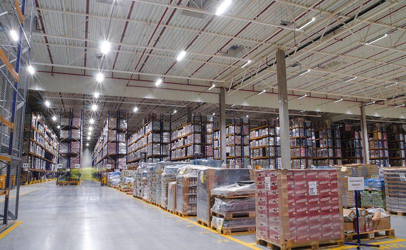 Realizacja oświetlenia w fabryce Develey